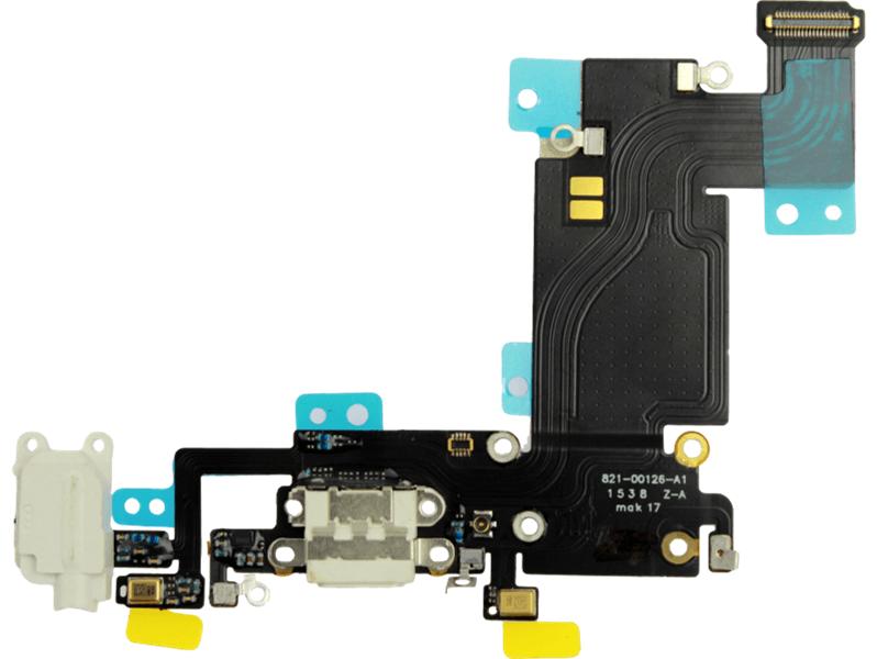Image of   Hovedtelefon- og opladerindgang til iPhone 6s plus-Hvid