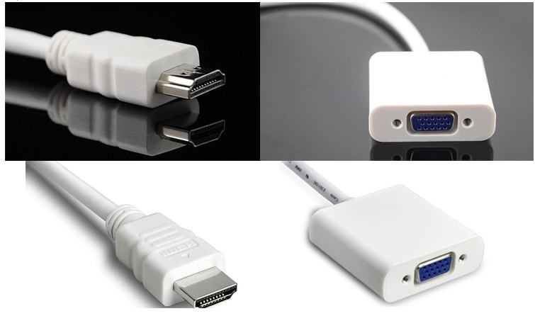 Billede af HDMI til VGA Adapter Farve - Hvid, Farve - Hvid
