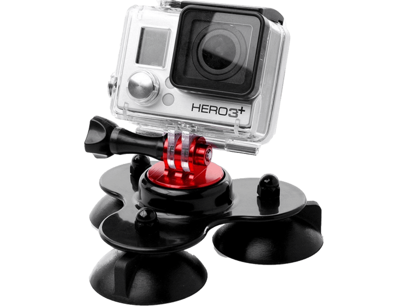 Image of   3 benet Sugekop mount til GoPro Sort