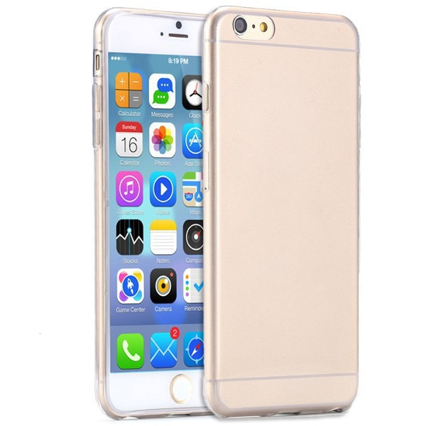 Image of   Transparent iPhone 6 / 6S cover-Guld