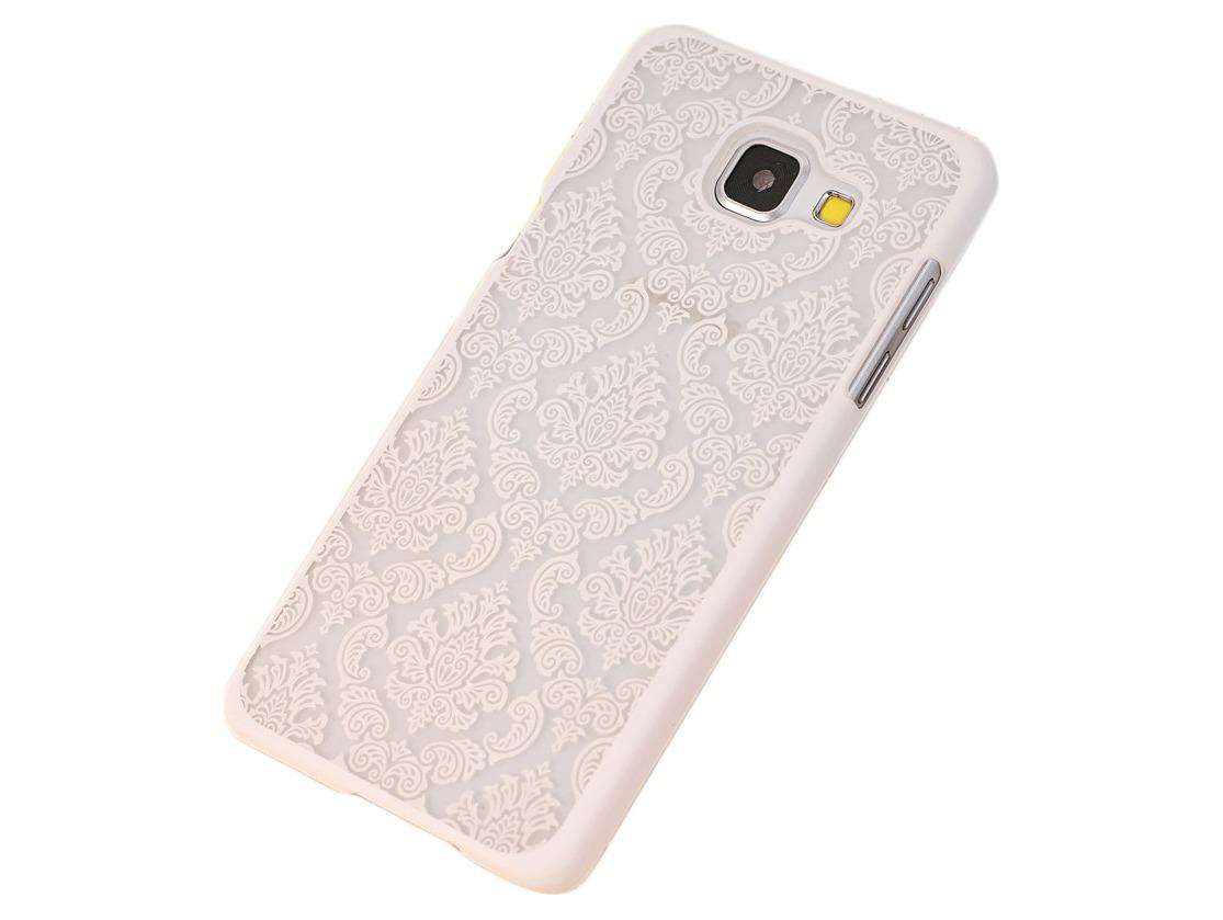 Metis Cover med mønster til Samsung Galaxy S7 Edge-Hvid