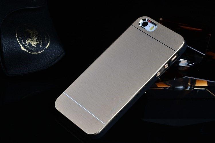 Cover i børstet aluminium til iPhone 5 / 5S / SE - Guld