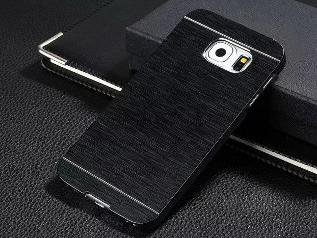Gaia Aluminium cover til Samsung Galaxy S7 Edge-Sort