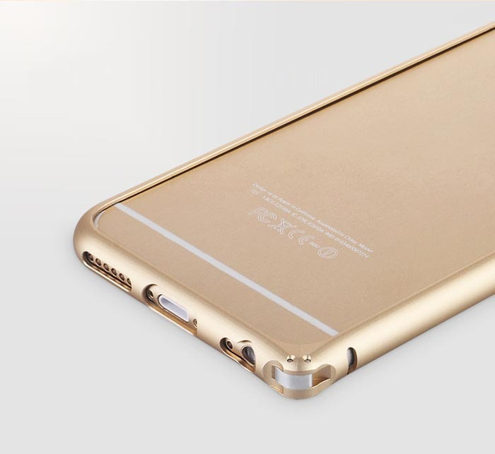iPhone 6 bumper i aluminium-Guld