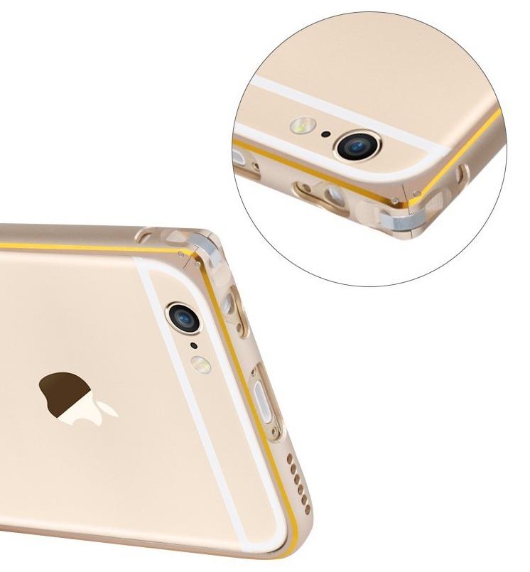 Aluminium Bumper til iPhone 6 / 6S-Guld