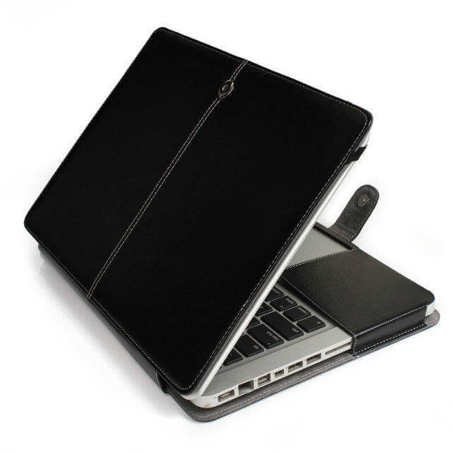 "Image of   Riga læder sleeve til Macbook Air 13"" - Sort"