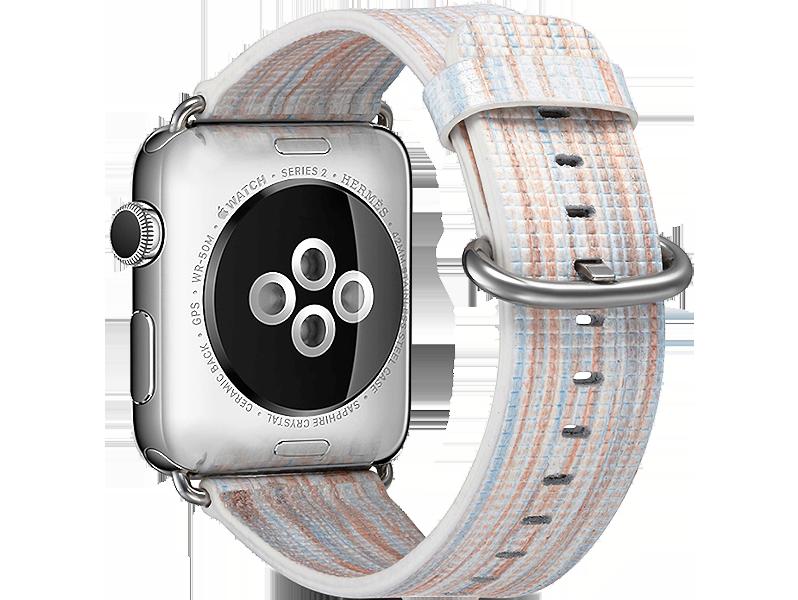 Image of   Agra rem til Apple Watch 1 / 2 / 3 / 4 / 5-Hvid-38/40 mm