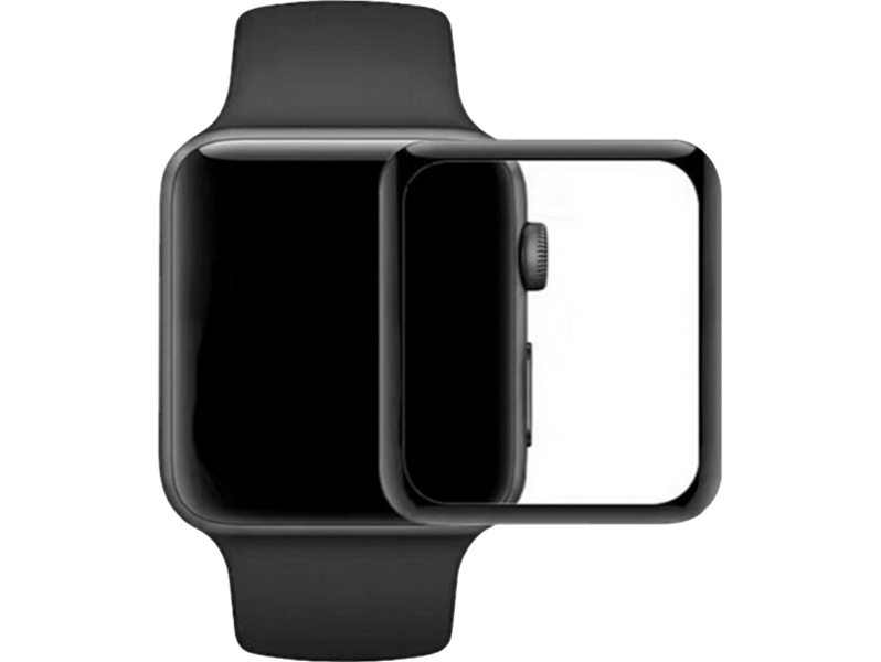 Image of   3D Curved beskyttelsesglas til Apple Watch 1/2/3-38 mm