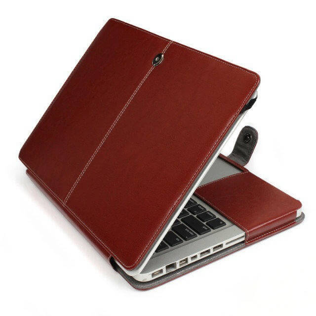 "Image of   Riga læder sleeve til Macbook Air 13"" - Brun"
