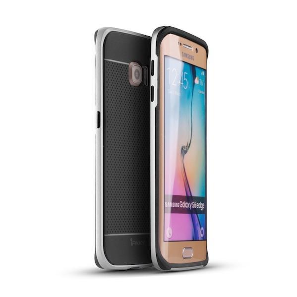 Billede af iPaky Cover til Samsung Galaxy S6 Edge - Sølv