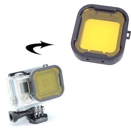 Image of   Dive Filter Lens til GoPro 4 / 3 Housing-Gul