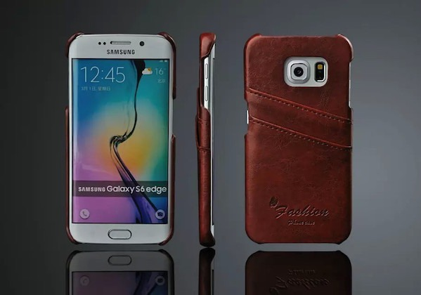 Image of   Apollon Læder Cover til Samsung Galaxy S6 Edge-Brun