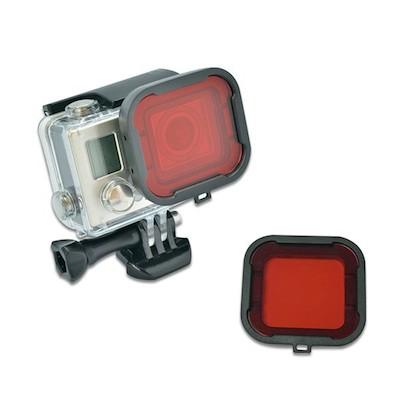 Image of   Dive Filter Lens til GoPro 4 / 3 Housing-Rød