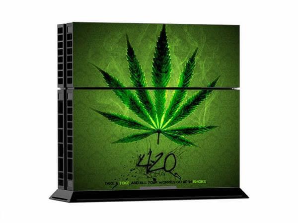 Image of   Green Leaf Skin til Playstation 4