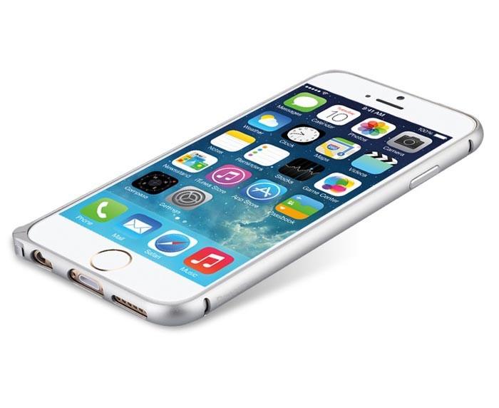 Sølv iPhone 6 bumper i aluminium