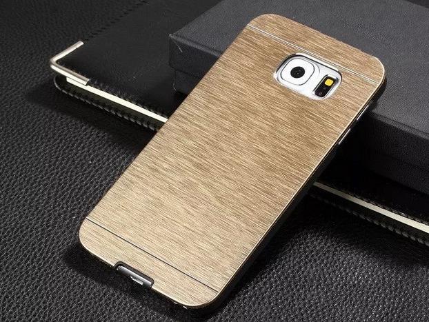 Gaia Aluminium cover til Samsung Galaxy S7 Edge-Guld
