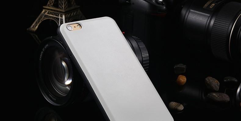 Læder / TPU Cover til iPhone 6 Plus / 6S Plus-Hvid