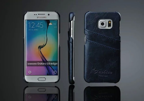 Image of   Apollon Læder Cover til Samsung Galaxy S6 Edge-Blå