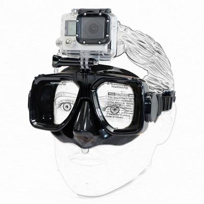 Dykkermaske til GoPro 4 / 3 / 2-Sort