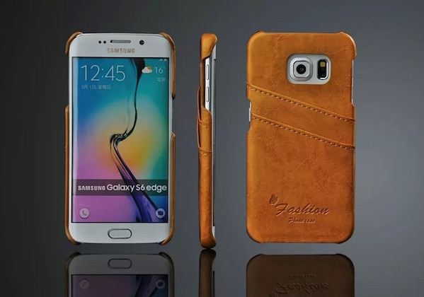 Image of   Apollon Læder Cover til Samsung Galaxy S6 Edge-Gul