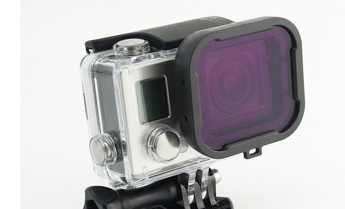 Image of   Dive Filter Lens til GoPro 4 / 3 Housing-Lilla