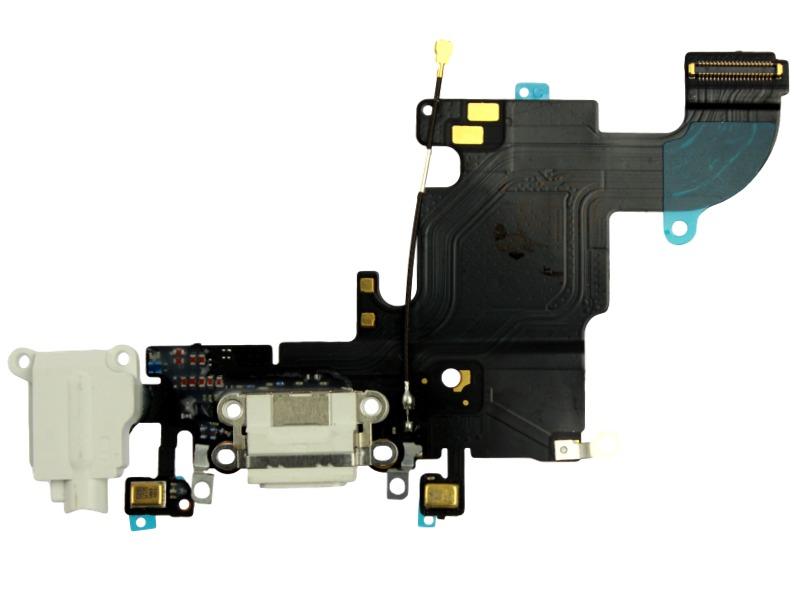 Image of   iPhone 6S Oplader + hovedtelefon indgang -Hvid