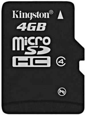 Image of   Kingston 4GB Class 4 microSDHC kort