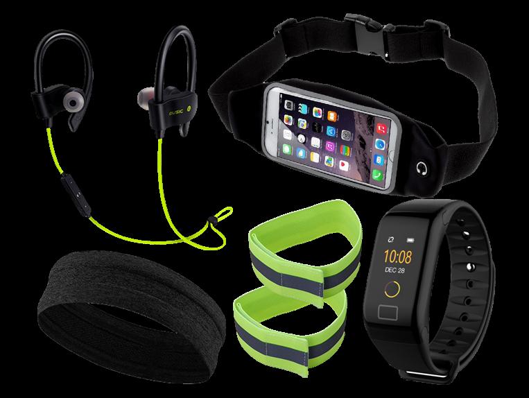 """Komplet løbepakke med aktivitetsur (5-7"""" smartphones)"""