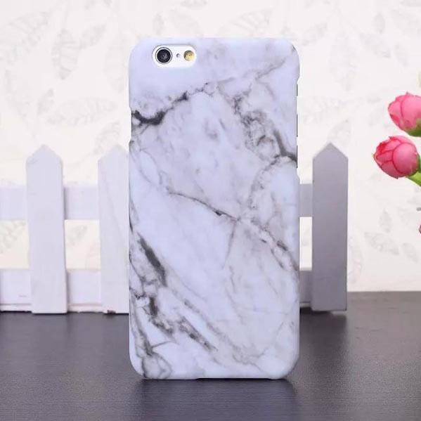 Skylla Marmor Cover til iPhone 6/6S - Hvid
