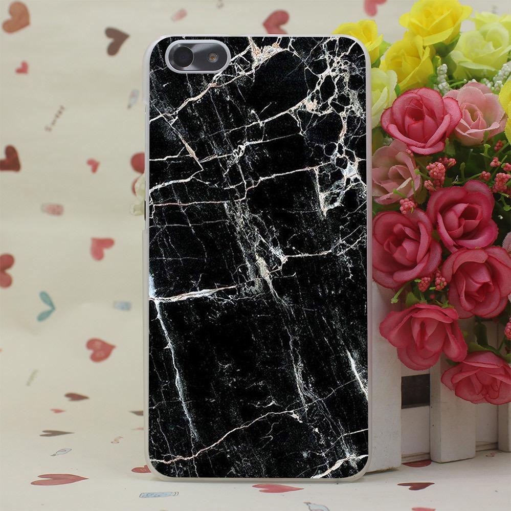 Sort marmor cover til Huawei P8 Lite