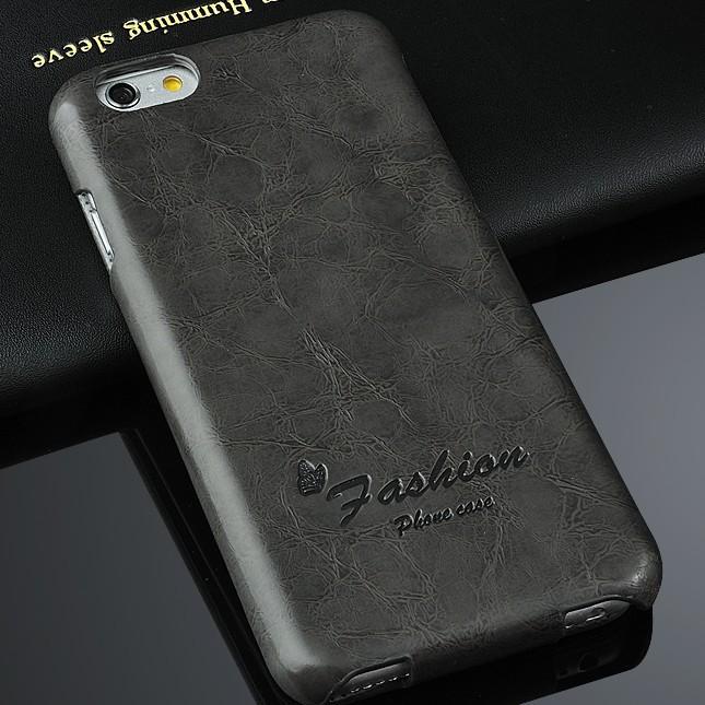 Image of   Joshice Sort Læder Flip Cover til iPhone 6 / 6S