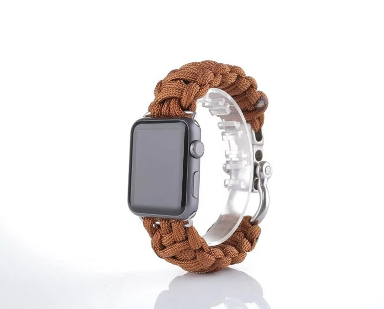 Sanya rem til Apple Watch-Lysebrun-38 mm