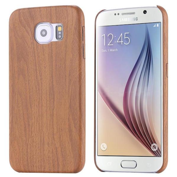 Billede af Bacchus Træ Cover til Samsung Galaxy S6 Edge-Teak træ