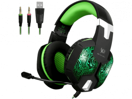 Hydra Gaming Headset til PC, Mac, PS4, Xbox, Nintendo Switch & Lite