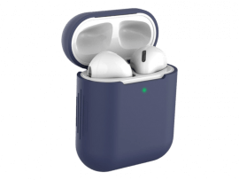 Mørkeblåt Silicone Cover til AirPods Series 1/2