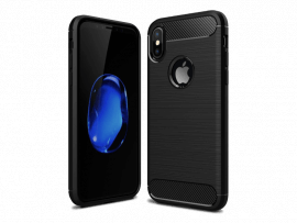 Carbon TPU Cover til iPhone X / XS