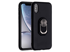 Silikone Cover m. Kickstand til iPhone X / XS