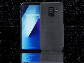 Carbon Fiber TPU Cover til Samsung Galaxy A8 (2018)