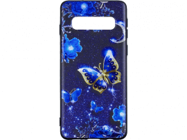 Blue Butterfly TPU Cover til Samsung Galaxy S10 Plus