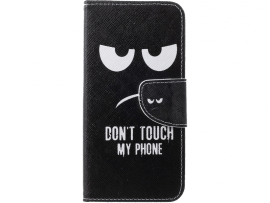 Don't Touch My Phone Flipcover til Samsung Galaxy S10 Plus