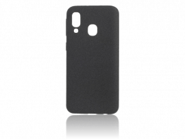Matte TPU Cover til Samsung Galaxy A40-Sort