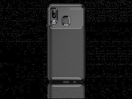 Carbon Fiber TPU Cover til Samsung Galaxy A40