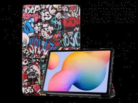 Graffiti Tri-Fold Cover til Samsung Galaxy Tab S6 Lite