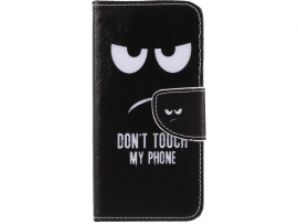 Don't Touch My Phone Flip Cover til Huawei P Smart