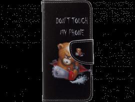 Angry Bear flipcover i PU læder til Huawei P20 Lite