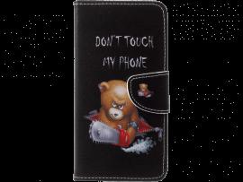 Angry Bear flipcover i PU læder til Huawei P20 Pro