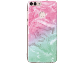 Marmor TPU Cover til Huawei P Smart-Pink