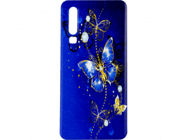 Blue Butterfly TPU Cover til Huawei P30