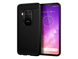 Carbon TPU Cover til Motorola One Zoom