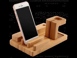 Bambus Oplader Dock til Apple Watch & Smartphone